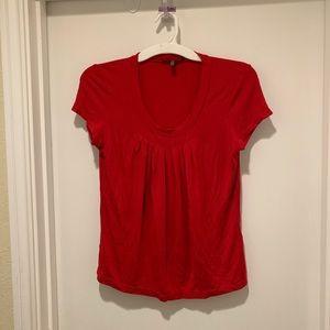 Anne Klein Red Short Sleeve Top